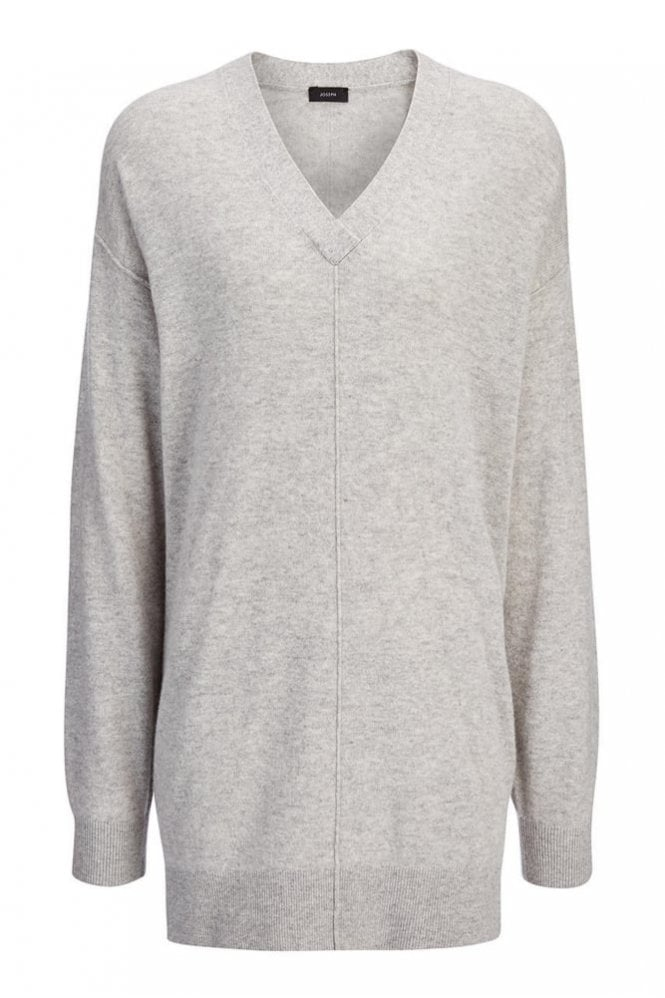 Joseph Soft Wool Tunic in Marble Grey