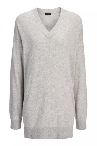 Soft Wool Tunic in Marble Grey