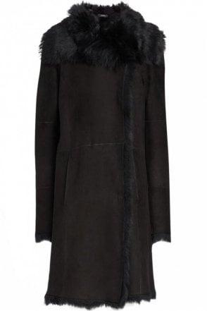 Toscana Anais Sheepskin Coat in Black