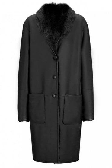 Toscano Nappato Truman Sheepskin Jacket in Black