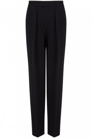 Viscose Cady Circe Trouser in Black