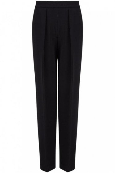 Viscose Cady Circe Trouser in Black