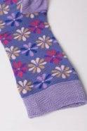 Joya Flower Socks in Purple