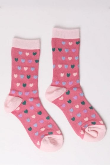 Heart Socks in Pink