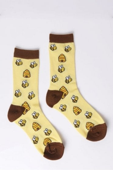 Honey Bee Socks in Yellow