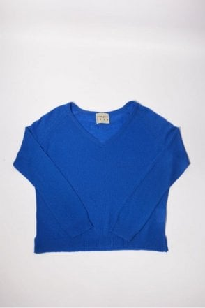 Boyfriend Cashmere V Neck in Sky