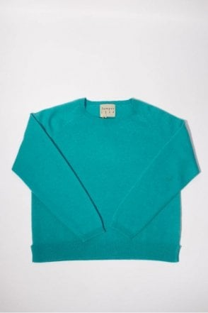 Swalk Cashmere Knit in Turquoise