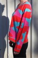 Jumper 1234 V Neck Camo Cashmere Knit in Multi