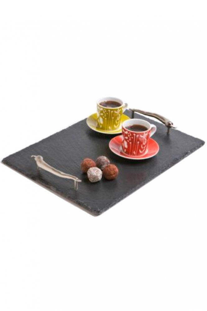 Just Slate Medium Slate Tray Chilli Handles