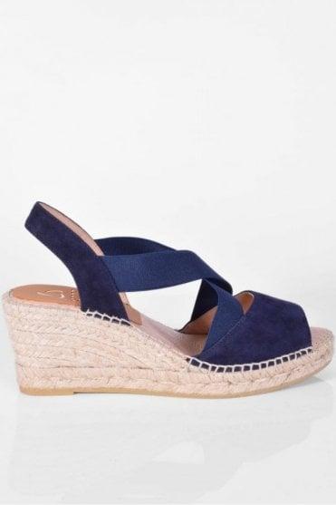 Basic Navy Wedge Sandal