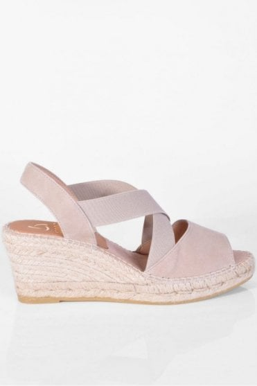 Basic Taupe Wedge Sandal