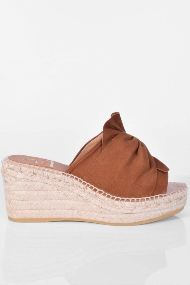 Kanna Capri Cognac Wedge Sandal