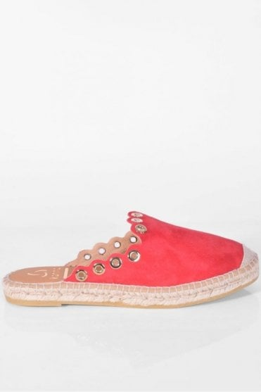 Dora Red Rivet Espadrille