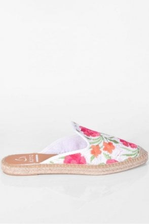 Dyna White Sequin Espadrille
