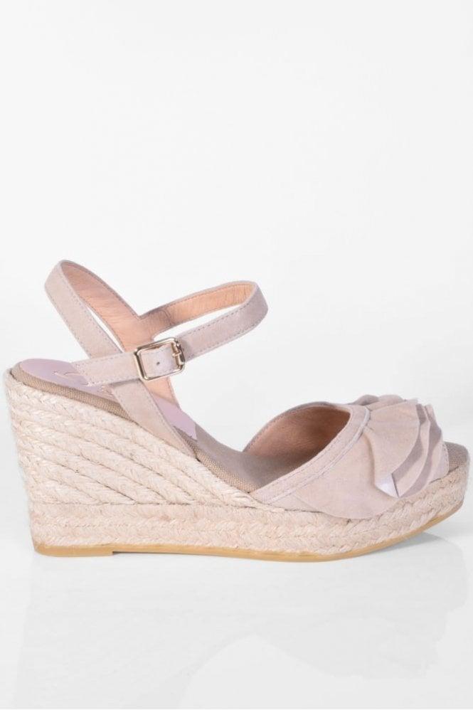 Kanna Viena Taupe Wedge Sandal