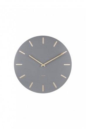Grey Charm Wall Clock