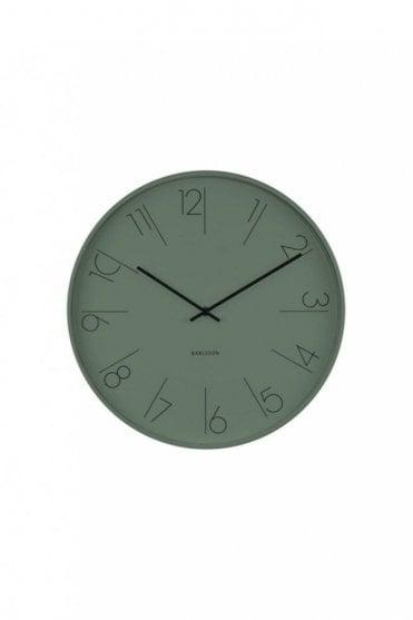Jungle Green Elegant Wall Clock