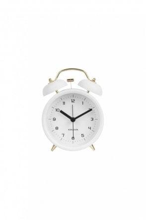 White Classic Bell Alarm Clock