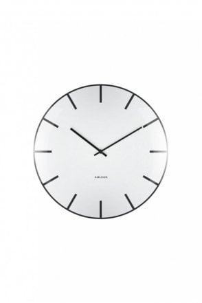 White Glass Dome Wall Clock