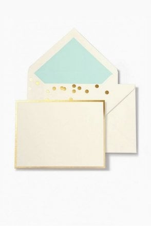 Confetti Card Set in Gold Confetti Dots