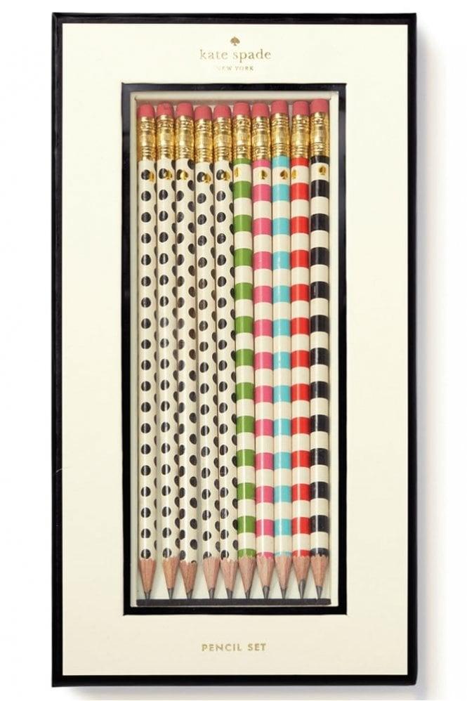 Kate Spade New York Dot The I's Pencil Set