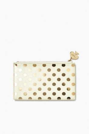 Gold Dots Pencil Pouch Set
