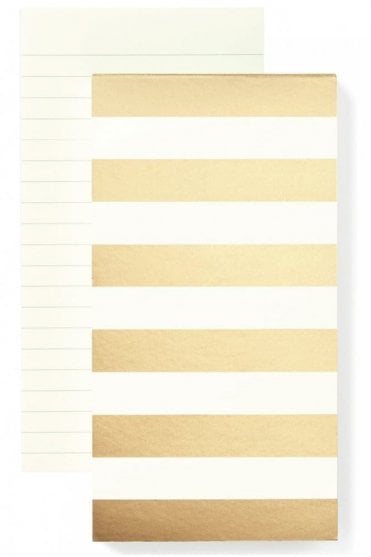 Gold Stripe Large Notepad