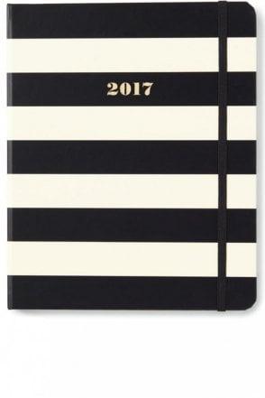 Black Stripe Set The Stage 17-Month Large Agenda