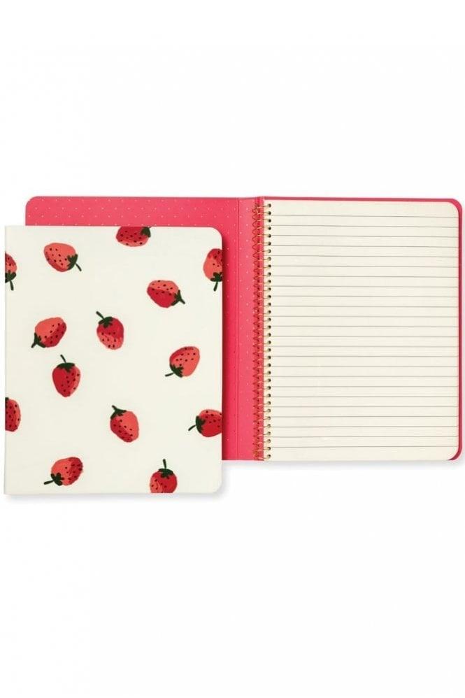 Kate Spade New York Concealed Spiral Notebook – Strawberries