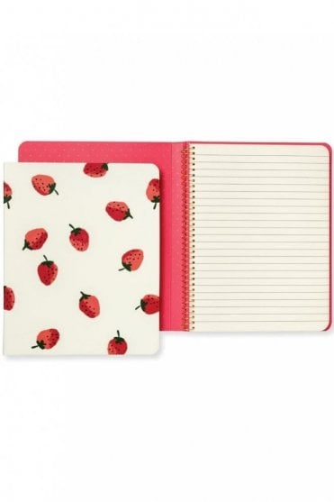 Concealed Spiral Notebook – Strawberries