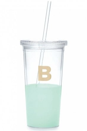 Dipped Initial Insulated Tumbler – B