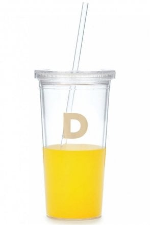 Dipped Initial Insulated Tumbler – D