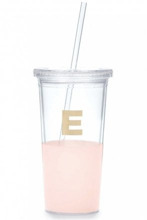 Dipped Initial Insulated Tumbler – E