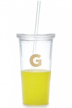 Dipped Initial Insulated Tumbler – G