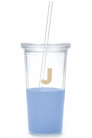 Dipped Initial Insulated Tumbler – J