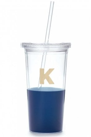Dipped Initial Insulated Tumbler – K