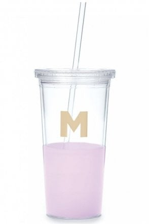 Dipped Initial Insulated Tumbler – M
