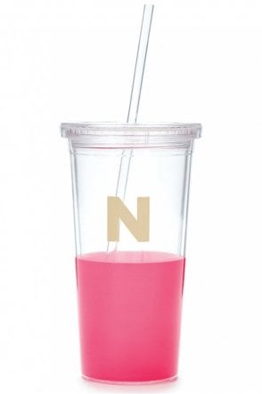 Dipped Initial Insulated Tumbler – N