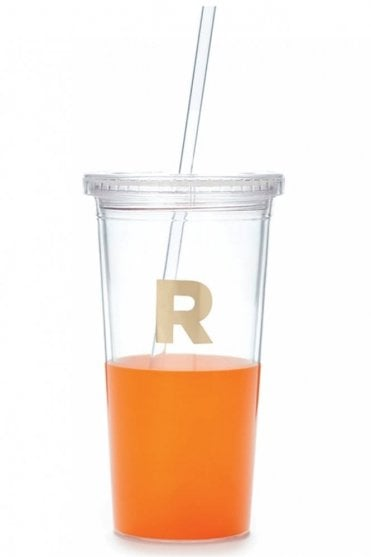 Dipped Initial Insulated Tumbler – R