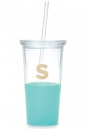 Dipped Initial Insulated Tumbler – S