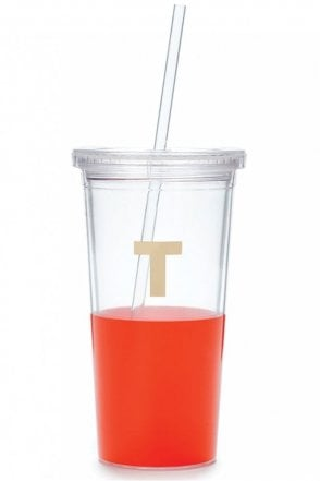 Dipped Initial Insulated Tumbler – T