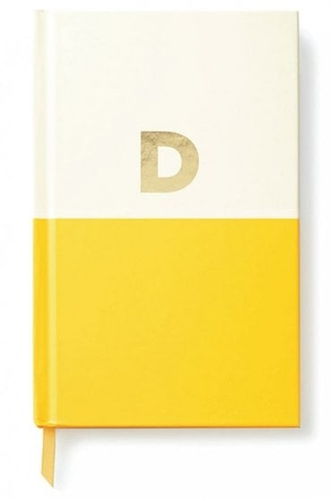 Dipped Initial Notebook – D