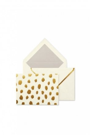 Foldover Card Set - Gold Flamingo Dot