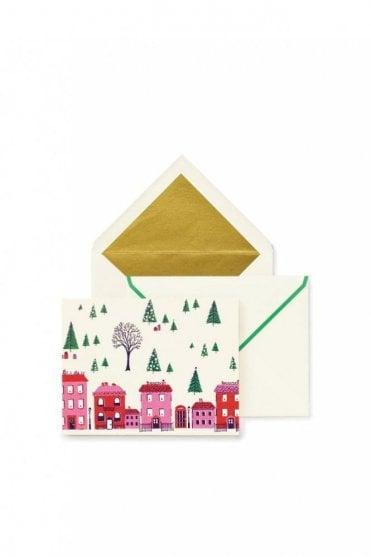 Holiday Village Holiday Card Set