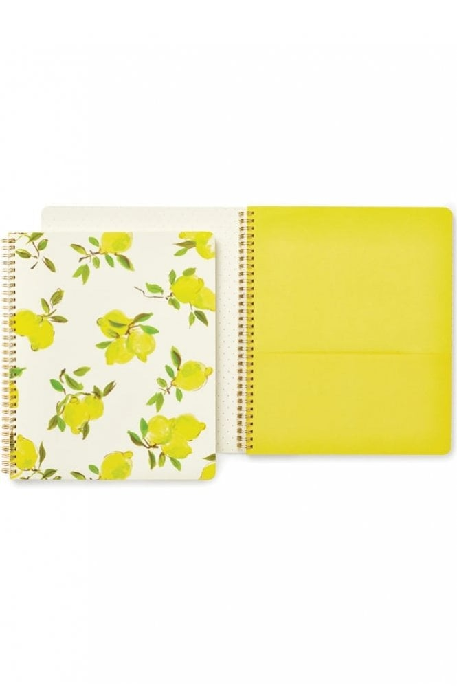 Kate Spade New York Lemons Large Spiral Notebook