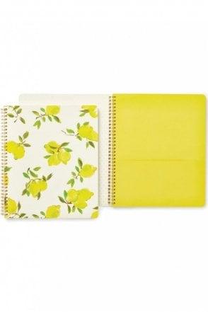 Lemons Large Spiral Notebook