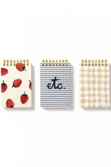 Spiral Notepad Set – Strawberries