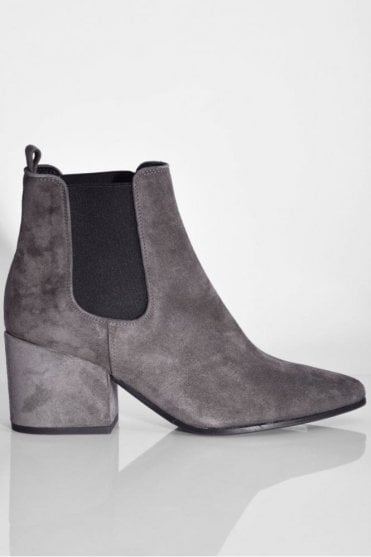 Abby Suede Boot in Anthracite
