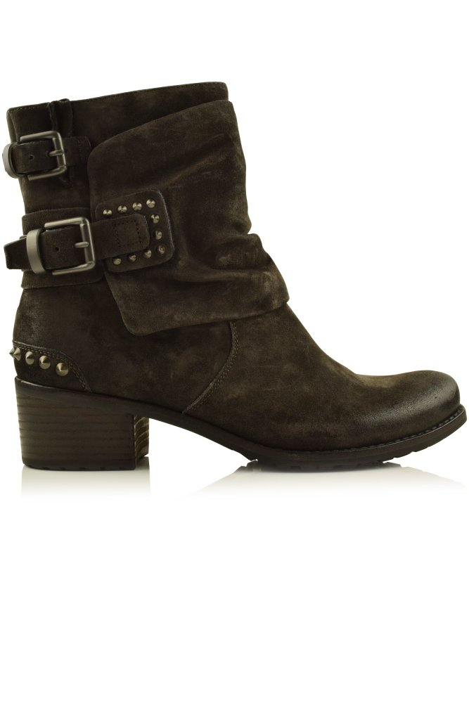 kennel und schmenger ambra suede studded biker boot in brown. Black Bedroom Furniture Sets. Home Design Ideas