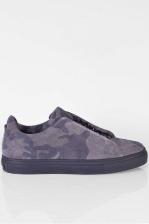 Basket Camouflage Trainer in Granite